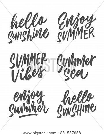 Summer Hand Lettering Design Part Ii This Design Is Suitable For Use In Summer, And Can Be Applied T