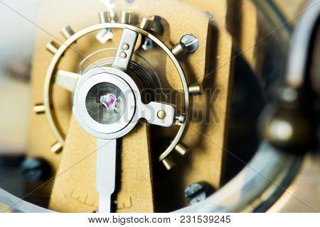Closeup of clockwork
