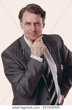 portrait of a handsome businessman
