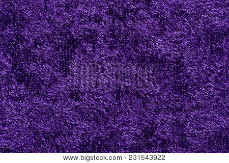 Elegant Fabric Texture In Contrast Violet Tone. High Resolution Photo.