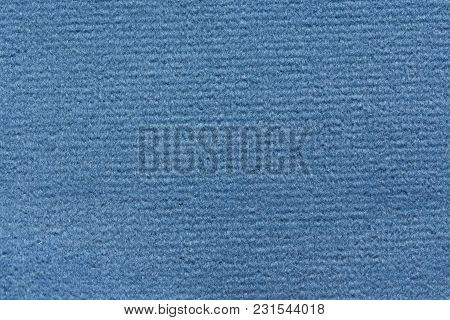 Admirable Textile Background In Blue Colour. High Resolution Photo.