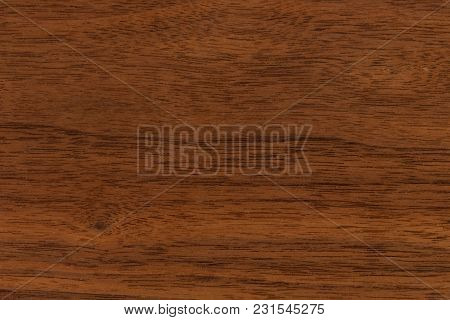 Background And Texture Of Walnut Wood Decorative Furniture Surface. Hi Res Photo.