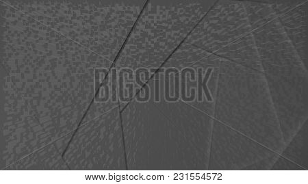 Abstract Geometric Background In Dark Tones From Layers. Suitable As Design Element, Separate Projec
