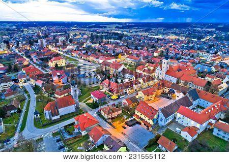 Town Of Krizevci Aerial Panoramic View, Prigorje Region Of Croatia