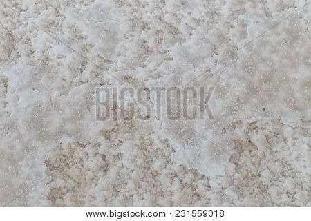 Texture Of Raw Salt From Natural  Sea Water In Evaporation Ponds At Phetchaburi Province,thailand (