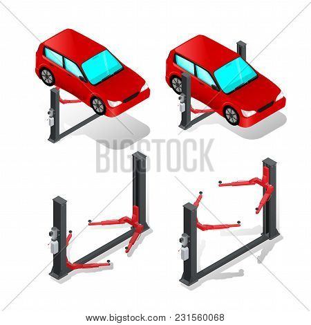 Car Lift, Device For Raising The Car In The Workshop, Car Repair, The List Of Services
