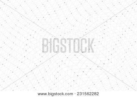 Geometric Pattern With Connected Lines, Dots, Points, Nodes. Graphics Array Background. Modern Styli