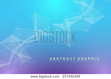 Global Network Connection. Network And Big Data Visualization Background. Futuristic Global Business