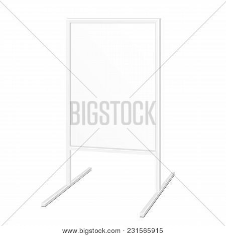 Simple Outdoor Indoor Stander Advertising Stand Banner Shield Display, Advertising. Illustration Iso