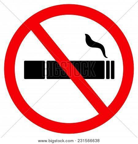 No Smoke Sign, Icon No Smoking, Banner No Smoking