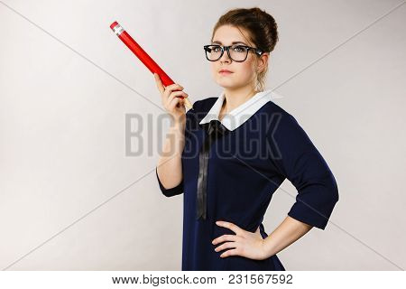 Person Confused Thinking Seeks A Solution. Pensive Thoughtful Student Girl Or Business Woman Female