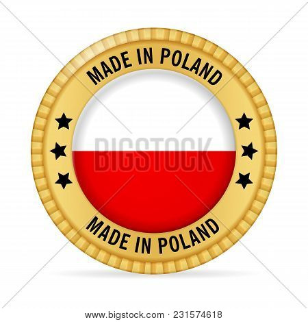Icon Made In Poland On A White Background.
