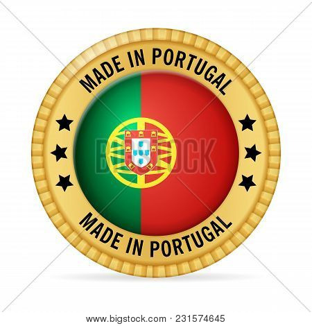Icon Made In Portugal On A White Background.