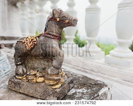Ceramic Horse And Zebra Used As Offerings Or Sacrifice To Holy Spirits Used In Spiritual Or Religiou