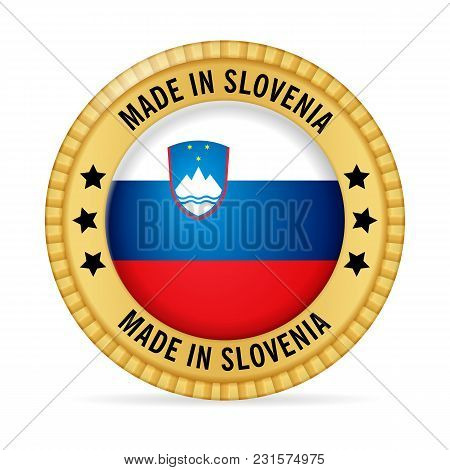 Icon Made In Slovenia On A White Background.