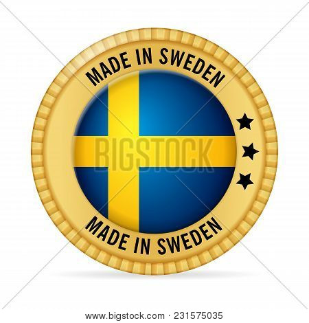 Icon Made In Sweden On A White Background.