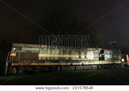 Zagreb, Croatia - December 13th, 2017: Advent Time In City Center Of Zagreb, Croatia. An Old Rusty E