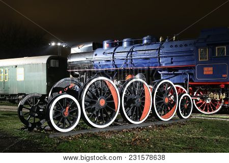Zagreb, Croatia - December 13th, 2017:advent Time At The Croatian Railway Museum.wheels From 1946 Jz