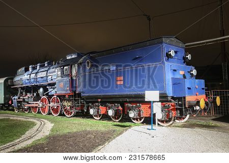 Zagreb, Croatia - December 13th, 2017: Advent Time At The Croatian Railway Museum In Zagreb. 1946 Jz