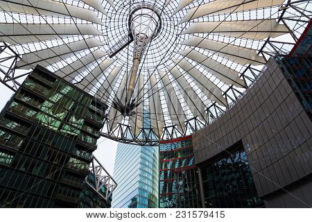 Berlin, Germany - April 15, 2017: Modern Architecture At The Potsdamer Platz On April 15, 2017 In Be