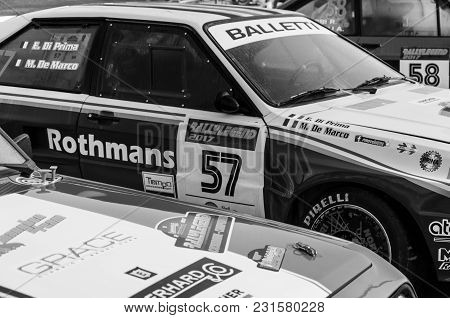 San Marino - Ott 21, 2017 : Audi Quattro A2 1983 In Old Racing Car Rally Historical Race