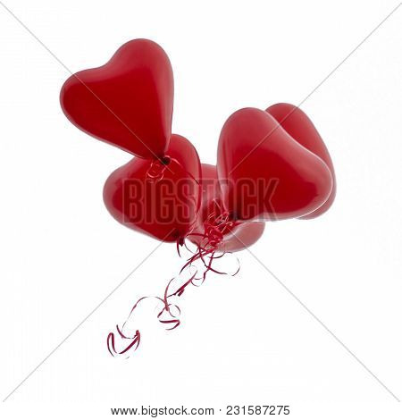 3d-rendering At Weddings Or Engagements Often Hearts Can Be Sent To Heaven. This Is An Eternal Sign