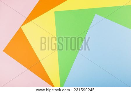 Multicolored Paper (orange, Pink, Blue, Yellow, Green)