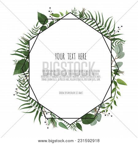 Floral Vector Frame With Place For Your Text.can Be Used As Creating Card, Invitation Card For Weddi