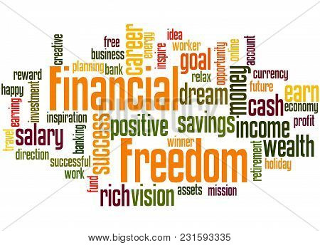 Financial Freedom Word Cloud Concept