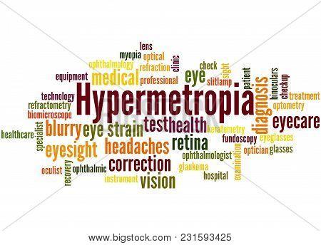 Hypermetropia Word Cloud Concept 2