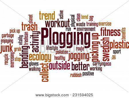 Plogging Word Cloud Concept 3