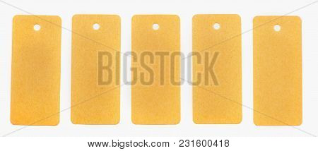 Set Of Recycled Paper Tags Labels Isolated On White Background