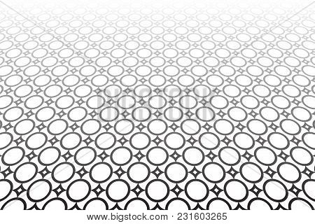 Diminishing Perspective. Abstract Geometric Background. Tiled Floor. Vector Art.