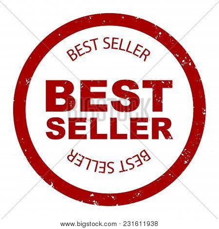 Best Seller Simple Stamp Round Vector. Bestseller Rubber, Seller Stamp, Label Quality Illustration