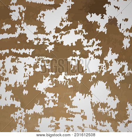 Rust On Metal. Vector Rusted Metal, Rustic And Rusty Metal Grunge, Steel Corrosion Illustration