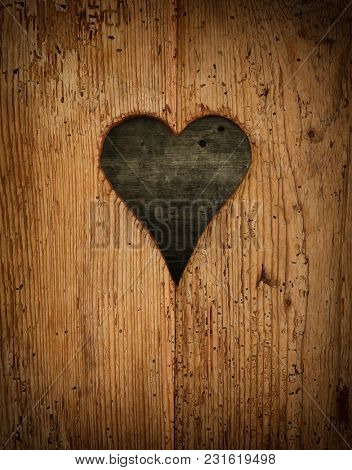 wooden heart. abstract background texture.
