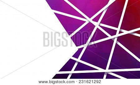 Illustration Of Colorful Complex Shapes Background With White Stripes