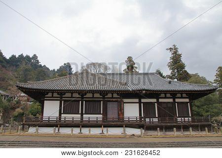 Hokke Hall Of Todai Ji In Nara, Japan