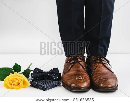 Wedding Rings, Rose, Men's Legs