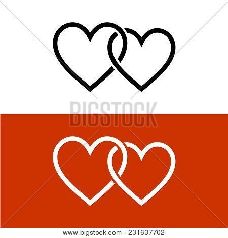 Two Line Style Hearts Vector Photo Free Trial Bigstock