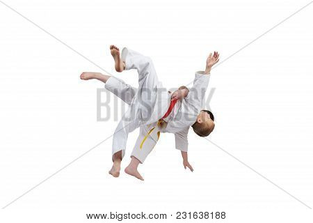 Boys Are Training High Throws Of Judo