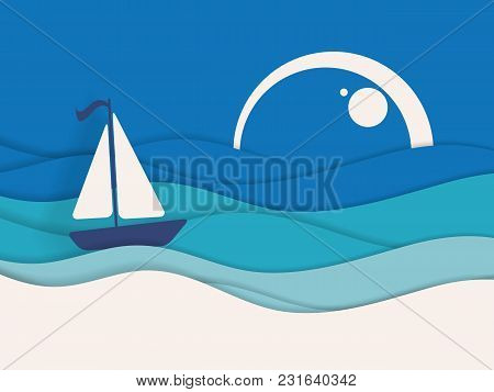 Bright Design. Summer Travel Background. Elements, Textures For Designs. Templates For Brochures, An