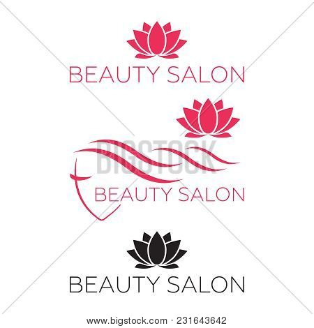 Logo Template For Hair Salon, Beauty Salon, Cosmetic Procedures, Spa Center. Beauty Logo For Hair Sa
