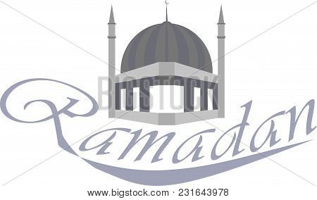Design Element On The Ramadan Holiday, Leaning, Vector
