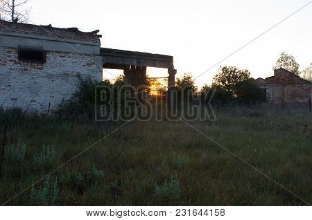 The Rays Of The Sun Through An Abandoned Building.