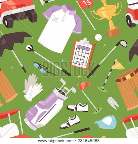 Golf Vector Golfers Sportswear And Golfball For Playing In Golfclub Illustration Set Of Sportsman Go