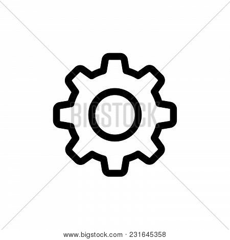 Setting Icon Isolated On White Background. Setting Icon Modern Symbol For Graphic And Web Design. Se