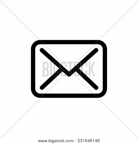 Message Icon Isolated On White Background. Message Icon Modern Symbol For Graphic And Web Design. Me
