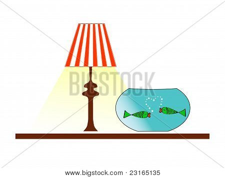 Fish under the lamp