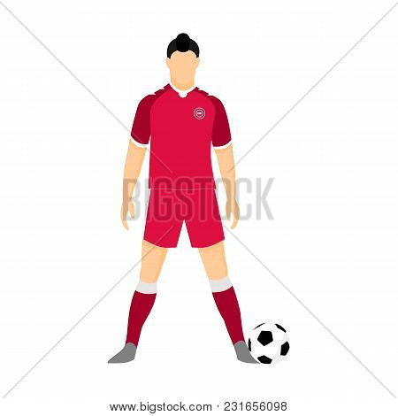 Denmark Football Jersey National Team World Cup Vector Illustration Graphic Design